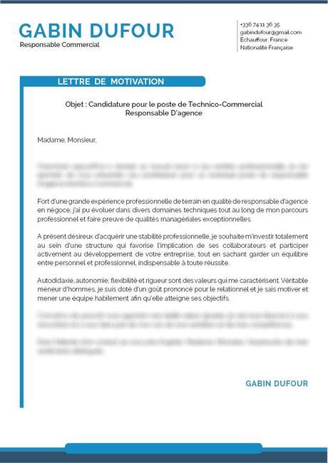 Lettre De Motivation Technico Commercial Paperblog