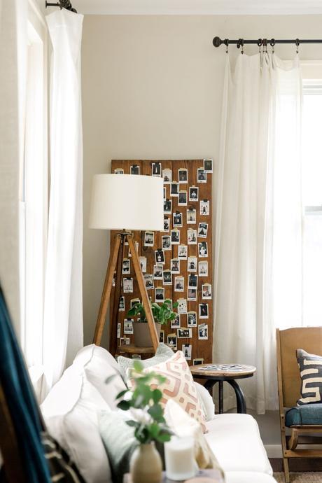 chambre déco fait maison planche bois photos