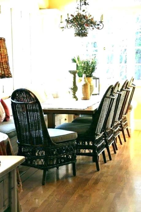 wicker dining room set wicker dining room chairs with casters
