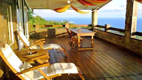 Terrasse avec vue sur mer Piton Saint Leu à la Réunion