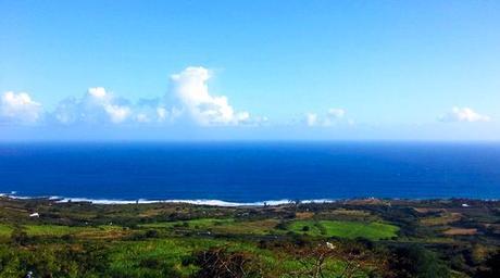 Vue sur l'océan indien depuis la location à Piton Saint Leu la maison Claire.