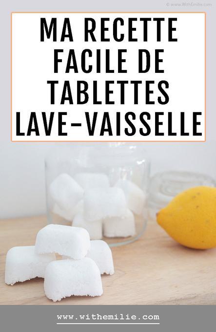 Ma recette de tablettes pour lave-vaisselle faites maison