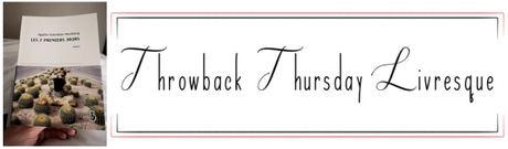 Throwback Thursday Livresque n°36