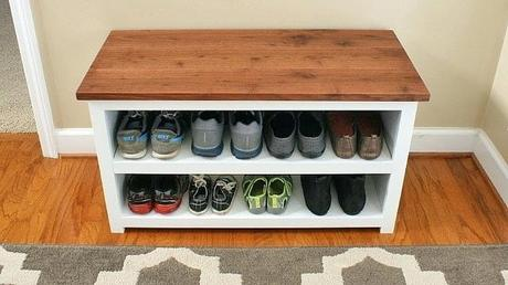 small shoe rack small coat rack with shoe storage bench