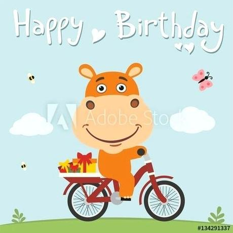 hippo gifts funny hippo on bike with gifts birthday card with cute hippo in green hippo gifts hours