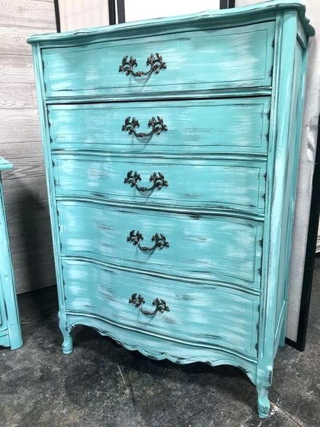 turquoise dresser turquoise chalk paint dresser