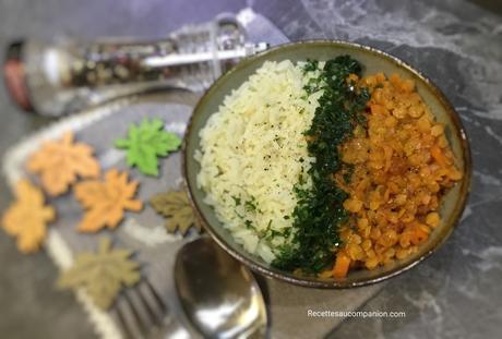 Lentilles corail et carottes au curry au cookeo