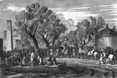 Chad-sultan-of-baguirmi-at-his-capital-mas-ena-1870-61097-p
