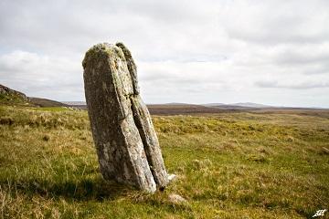 Les traces d'un impact de foudre trouvés au centre d'un cercle de pierre sur l'île de Lewis