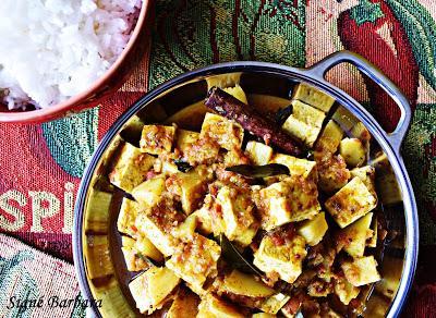 Tofu chettinad au poivre