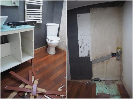Salle de bain AVANT/APRES