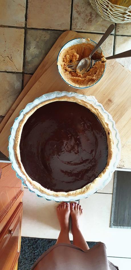 Le « Pourquoi Pas » : tarte chocolat, patate douce et cacahouètes
