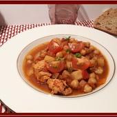 Chorba au poulet, tomates et pois chiches - Oh, la gourmande..