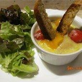 Oeufs cocotte aux cèpes, lardons et légumes - sucreetepices.over-blog.com