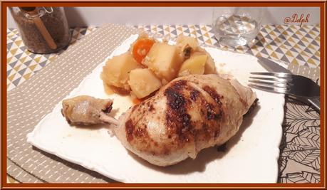 Poulet au chou vert et pommes de terre