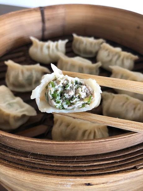 Jiaozi (gyoza) au porc et aneths 猪肉茴香水饺