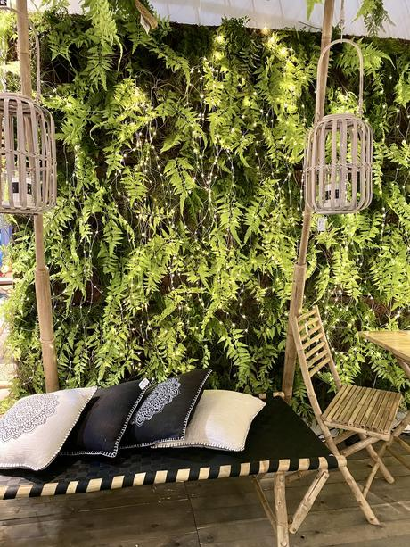 mur végétal fougère décoration bohème photocall mariage urban jungle