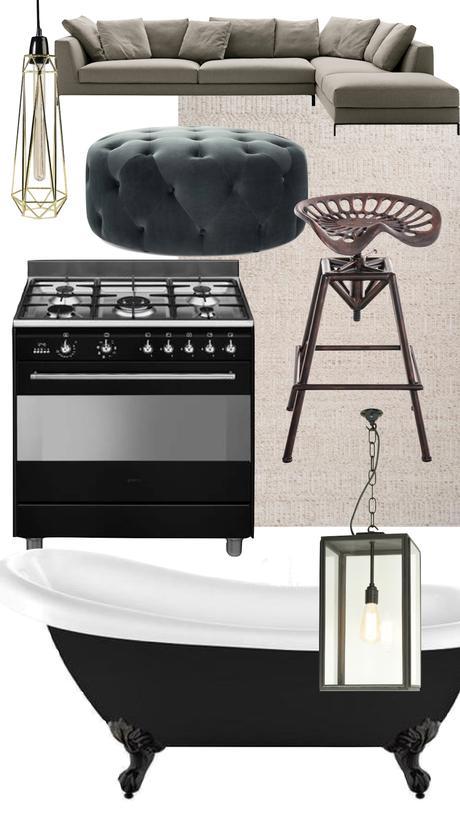 maison londres shopping liste canapé cuisinière smeg baignoire pouf décoration intérieure - clematc