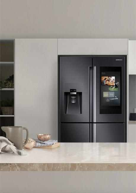 frigo samsung 2.0 hi tech familyhub tendance design kitchen - clematc
