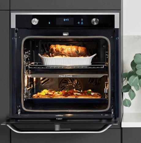 four encastrable samsung dual cook flex design kitchen - clematc