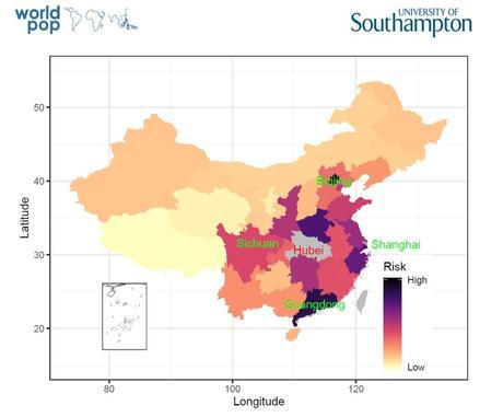 Les villes de Pékin, Guangzhou, Shanghai et Chongqing sont toutes identifiées comme à risque élevé