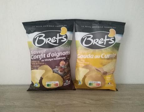 Chips Saveur Gouda Cumin et Saveur Confit d'Oignons au Vinaigre Balsamique Brets