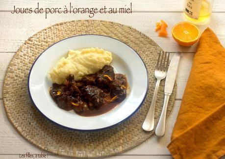 Joues de porc à l'orange et au miel