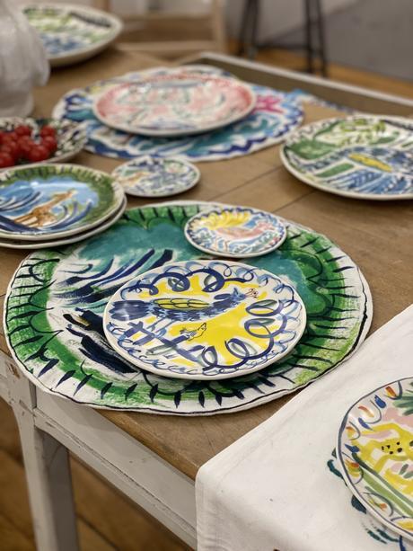 art de la table collaboration Bela Silva x monoprix faïence colorée - blog clematc