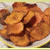 Chips de patate douce au four - Oh, la gourmande..