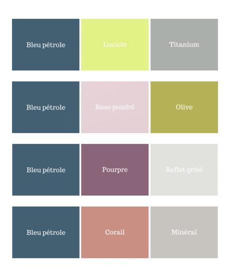 palette association couleur prune jaune intérieur lumineux