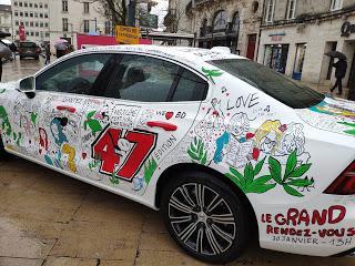 FIBD 2020: la voiture officielle du 47ème festival BD d'Angoulême