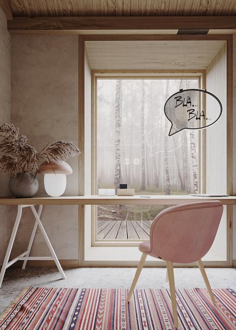 chambre enfant maison du silence ambiance zen bureau fenêtre déco décoration intérieure