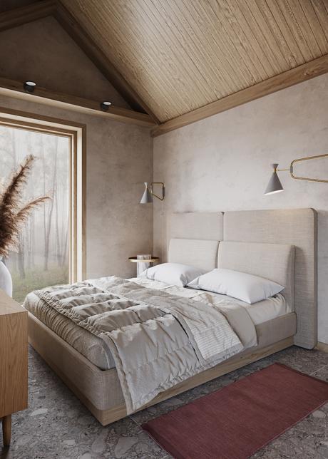visite déco maison du silence ambiance zen matériaux naturels bois pierre chambre parentale - blog déco - clemaroundthecorner
