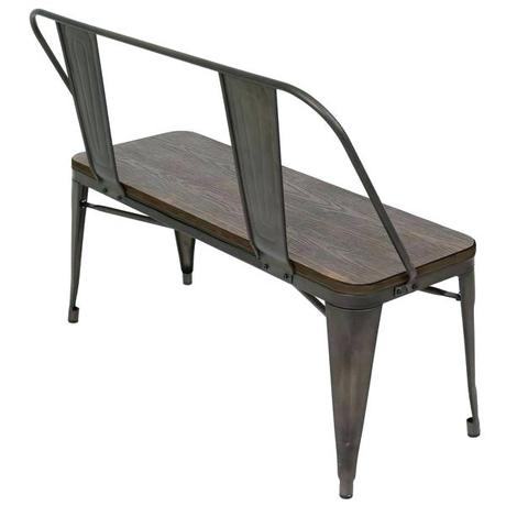 industrial dining bench industrial dining table with bench and chairs