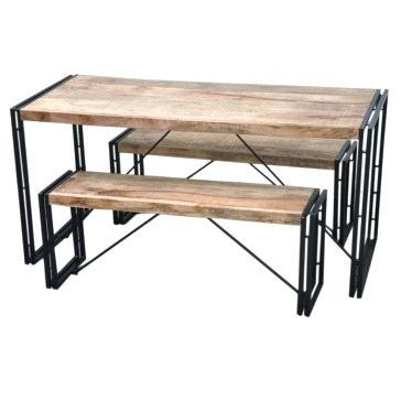 industrial dining bench industrial dining room table with bench