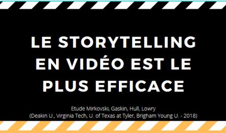 La vidéo donne le meilleur storytelling