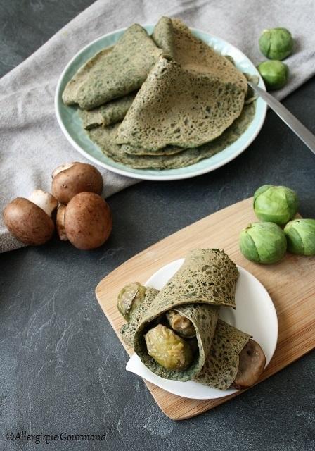 Galettes sarrasin - épinards { sans gluten, sans lait, sans œufs }