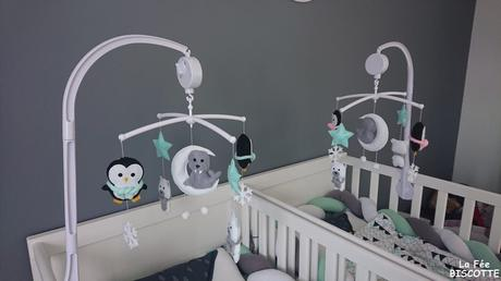 Déco chambre jumeaux mixte – Thème Pingouin