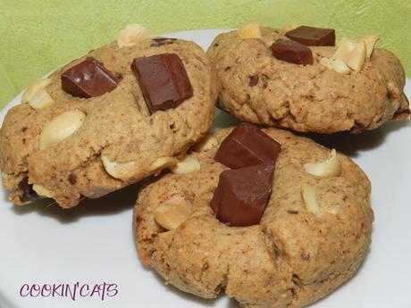 COOKIES CHOCOLAT & CACAHUÈTES (sans gluten, végétalien)