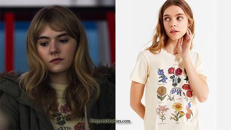 Locke & Key : Kinsey's flower chart t-shirt in S1E03