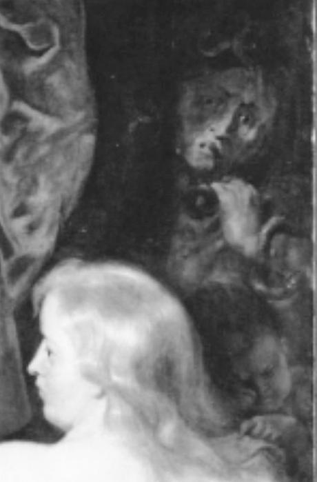 Rubens 1613-14 Le couronnement du heros vertueux Alte Pinakothek Munich 221 cm x 200 detail.