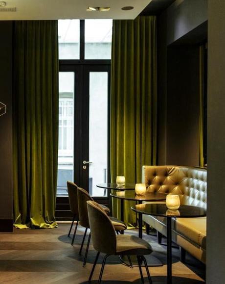 bar moderne style lounge américain canapé marron cuir blog déco