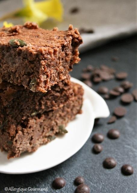 Brownie haricots blancs { sans gluten, sans lait, sans œufs }