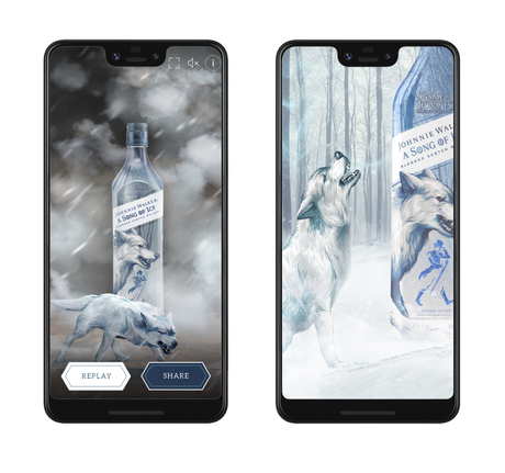 Johnnie Walker : des bouteilles interactives Game of Thrones