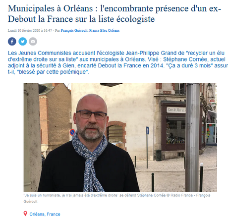 à Orléans, un caillou brun dans la soupe écologiste… #DLF #LREM #OSE #LR