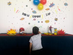 décoration anniversaire super-héros