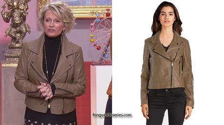 AFFAIRE CONCLUE : la veste en cuir marron de Sophie