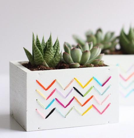 cache-pot diy bois rectangle plante grasse ficelle - blog déco - clem around the corner