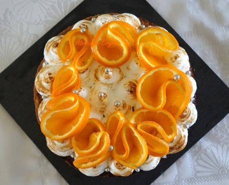 Tarte Meringuée à l'Orange