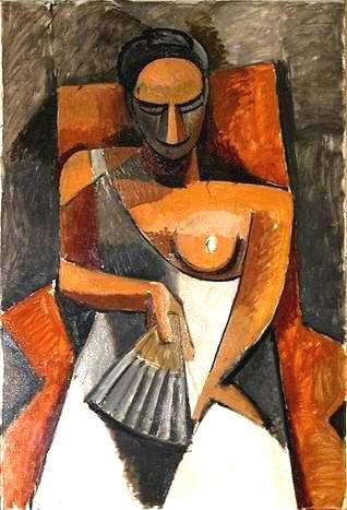 La femme à l'éventail - Pablo Picasso, 1907